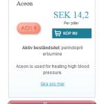 Aceon  (Perindopril  erbumine)