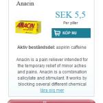 Anacin (Aspirin caffeine)