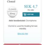 Clomid  (Clomiphene)