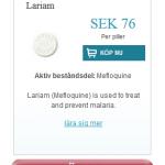 Lariam  (Mefloquine)