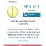 Tadapox  (Tadalafil  dapoxetine)