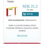 Vantin  (Cefpodoxime)